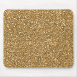 Gold Glam Faux Glitter Mouse Pads