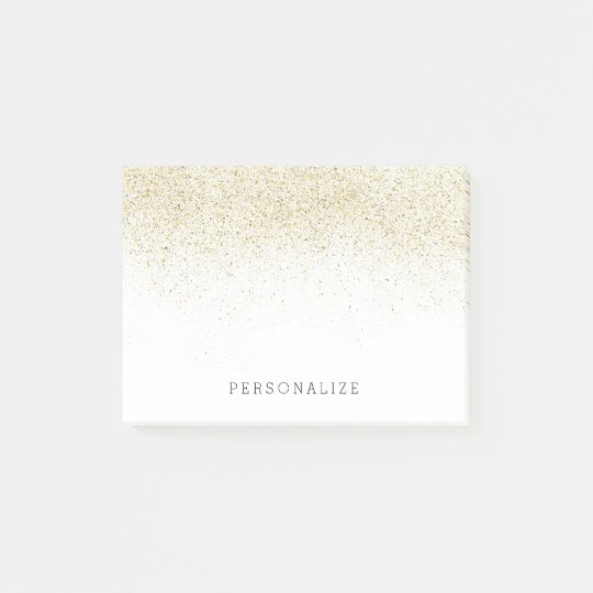 Gold Glam Faux Glitter Post-it Notes