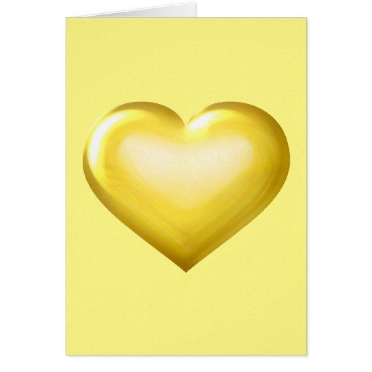 Gold glass heart - blank inside card
