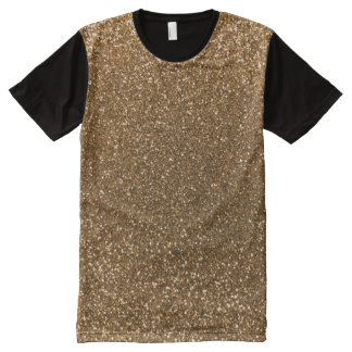 Gold glitter All-Over print T-Shirt