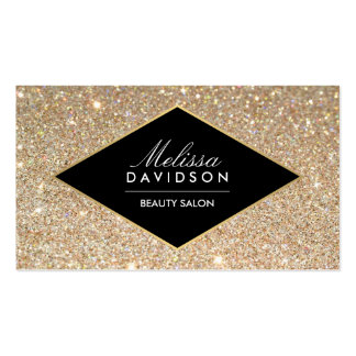 Gold Glitter and Glamour Beauty Business Card