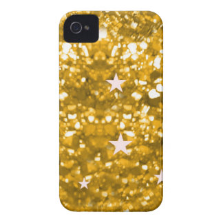 Gold glitter and stars iphone 4 barely case