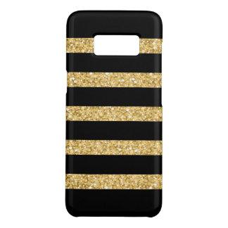 Gold Glitter Black Stripes Case-Mate Samsung Galaxy S8 Case