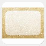 gold glitter blank template for customisation square sticker