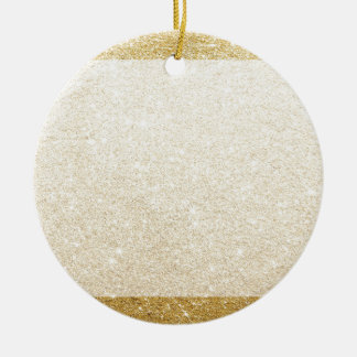 gold glitter blank template for customization christmas ornament