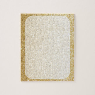 gold glitter blank template for customization jigsaw puzzle