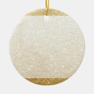 gold glitter blank template for customization round ceramic decoration