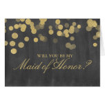 Gold Glitter Bridal Party Request Cards