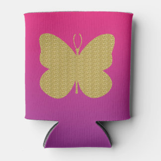 Gold Glitter Butterfly w/Pink and Purple Gradient