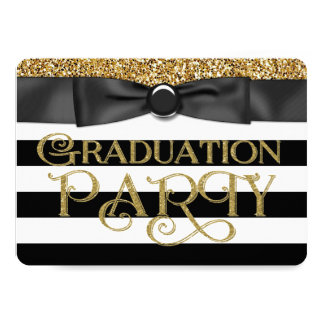 Gold Glitter Class of 2015 Graduation 13 Cm X 18 Cm Invitation Card