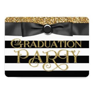 Gold Glitter Class of 2015 Graduation Card