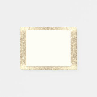 Gold Glitter Classic Glamour Sparkle Faux Post-it® Notes