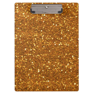 Gold glitter Clipboard