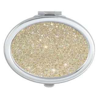 Gold glitter Compact Mirror