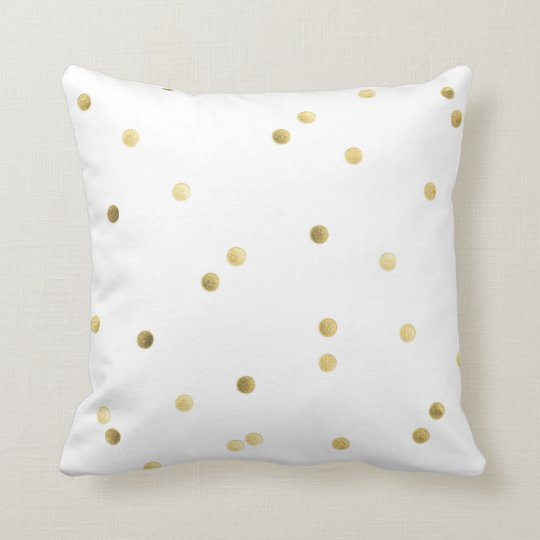 Gold Glitter Confetti Monogram Throw Couch Pillow