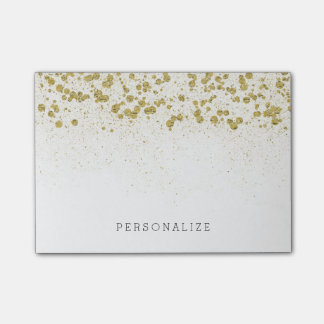 Gold Glitter Confetti Post-it Notes
