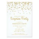 Gold Glitter Confetti Surprise Birthday Party 13 Cm X 18 Cm Invitation Card