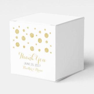 Gold Glitter Confetti Wedding Favor Boxes