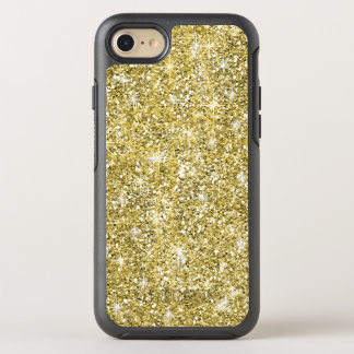 Gold Glitter Cool Modern Chic OtterBox Symmetry iPhone 8/7 Case