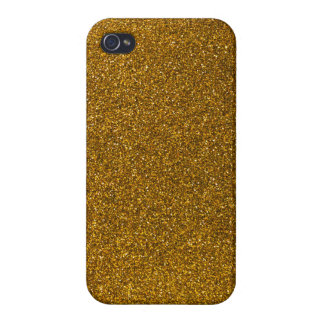 Gold Glitter Cover For iPhone 4