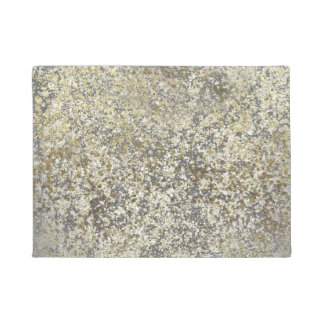 Gold Glitter Crackle Modern Chic Glam Sparkle Doormat