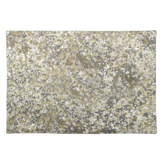 Gold Glitter Crackle Modern Chic Glam Sparkle Placemat