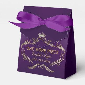 Gold Glitter Crown Frame Purple Background Favour Box