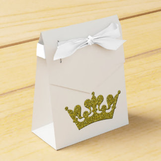 Gold Glitter Crown Princess Royal Party Boxes