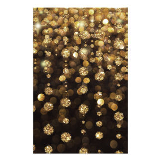 Gold Glitter Diamonds 14 Cm X 21.5 Cm Flyer
