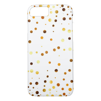 Gold Glitter Dots Clear iPhone 8/7 Case