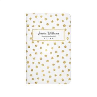 Gold glitter dots journal