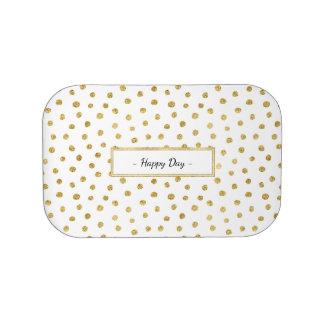 Gold glitter dots lunch box