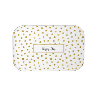 Gold glitter dots lunch boxes