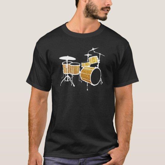 Gold Glitter Drums T-Shirt