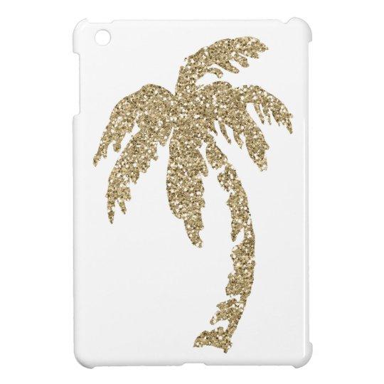 Gold Glitter Effect Palm Tree iPad Mini Case