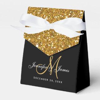 Gold Glitter Elegant Wedding Favor Box Party Favour Box