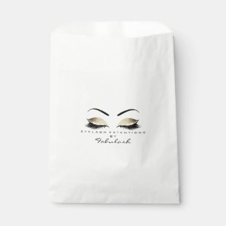 Gold Glitter Eyes Makeup Artist Stylist Lashes Favour Bags
