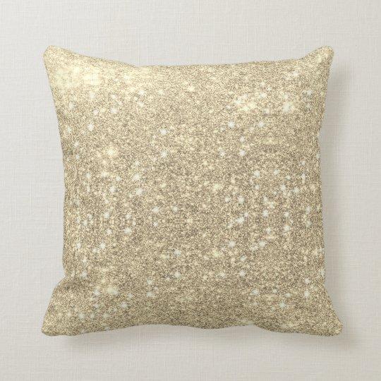 Gold Glitter Faux Sparkle Cushion