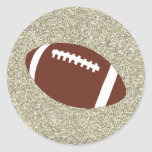 Gold Glitter Football Stickers