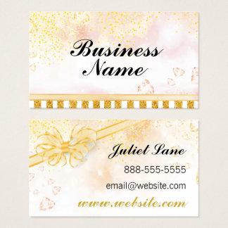Gold Glitter Glam Business Card