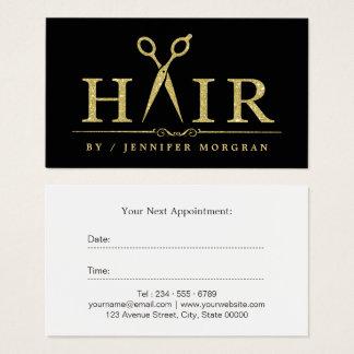 Gold Glitter Hair Stylist Scissors Appointment