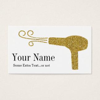 Gold Glitter Hairdresser Salon Business Card