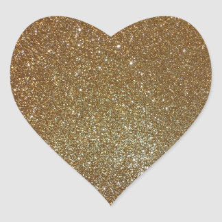 Gold Glitter Heart Sticker