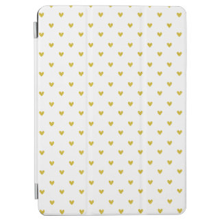 Gold Glitter Hearts Pattern iPad Air Cover