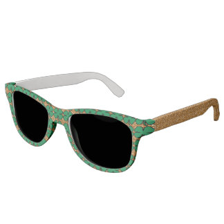 Gold Glitter Irish Shamrock Clover Sunglasses Cute