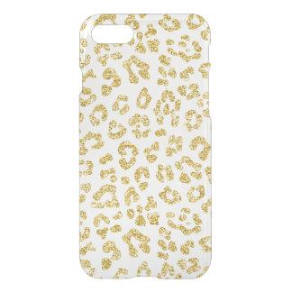 Gold Glitter Leopard Clear iPhone 8/7 Case