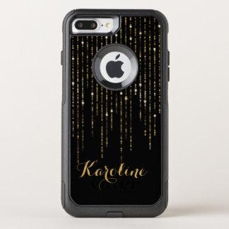 Gold Glitter Light Personalized OtterBox Commuter iPhone 8 Plus/7 Plus Case