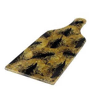 Gold Glitter Lips Cutting Board