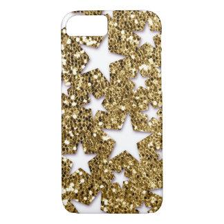 Gold Glitter Look Stars iPhone 8/7 Case