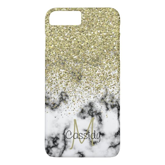 Gold Glitter, Marble, Girly, Trendy, Mobile iPhone 8